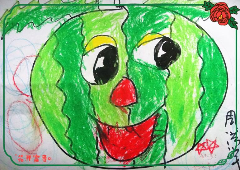 幼儿园参赛绘画作品展示