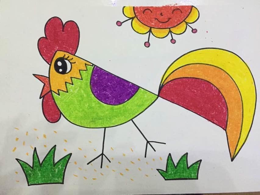 老师画画画小鸡