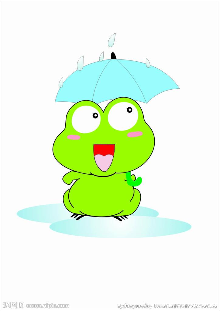 在炎热的夏天里,可爱的小青蛙功劳大, 你为我们忙着