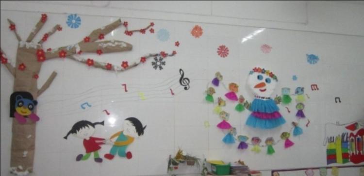 幼儿园冬天主题墙