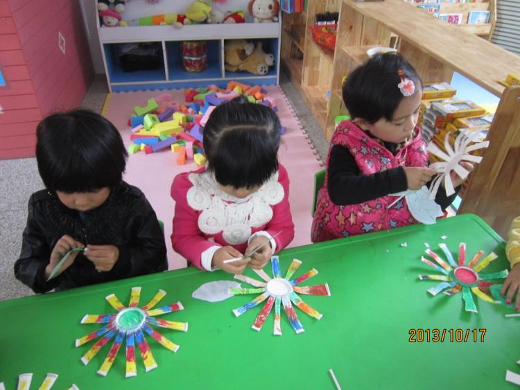手工制作:太阳花-定远县粮食局幼儿园