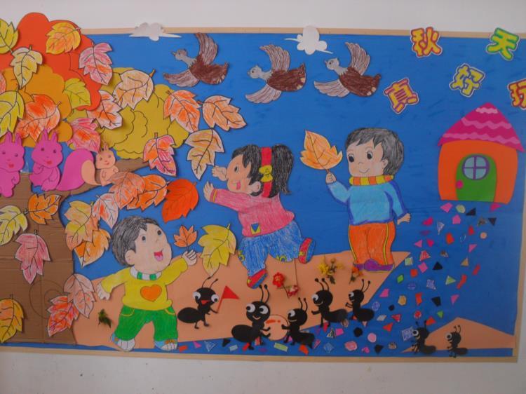巧手绘秋天——记合肥玉兰康利幼儿园秋天环境创设评比活动