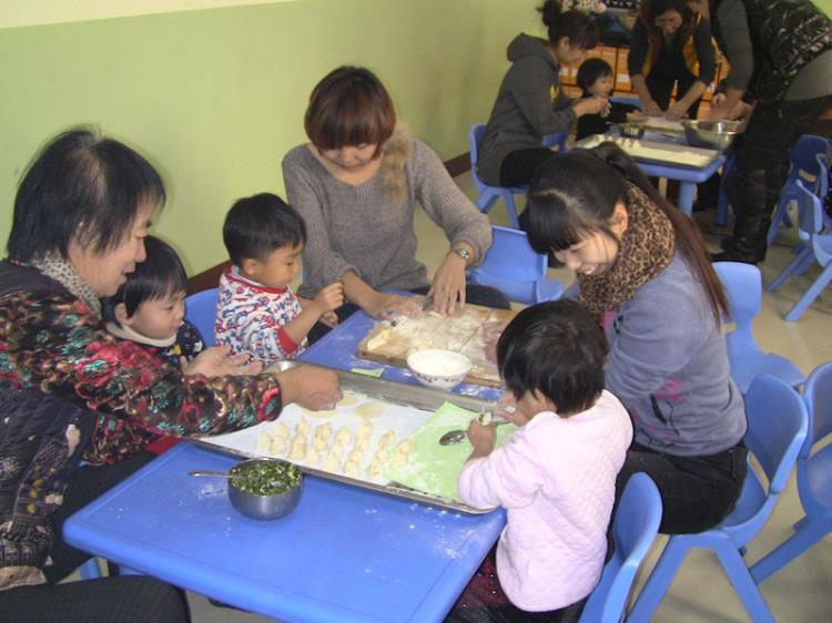 冬至前夕启航幼儿园包饺子活动