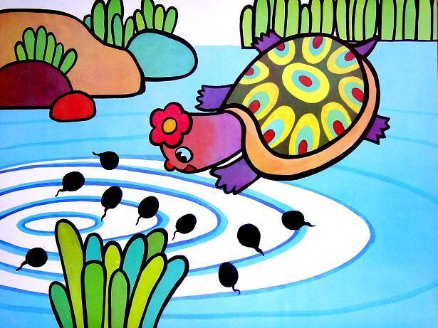 连环画:小蝌蚪找妈妈(四)-定远县粮食局幼儿园