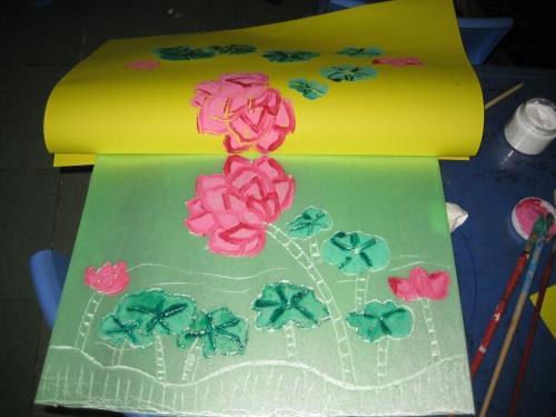 幼儿版画的制作步骤和操作流程,并观看了许多优秀儿童版画作品图片.
