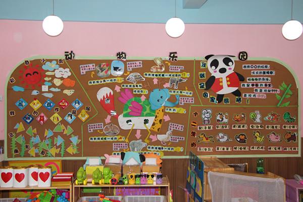 """顺庆实验幼儿园小二班根据本月主题""""动物朋友""""开展了""""动物乐园""""环境"""