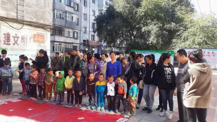 莱恩幼儿园的小朋友参加怡安社区举办的纪念9.18活动