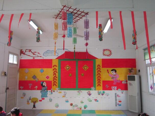 装点幼儿园的室内外环境