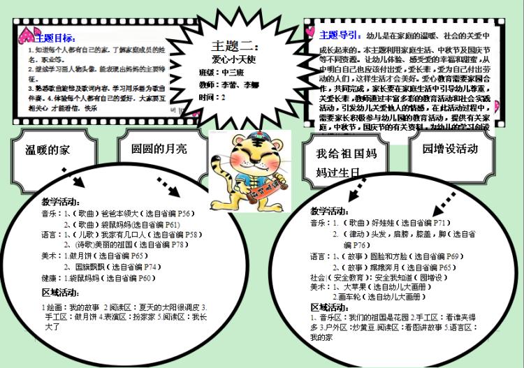 中班教学网络图:爱心小天使-济南大学幼儿园