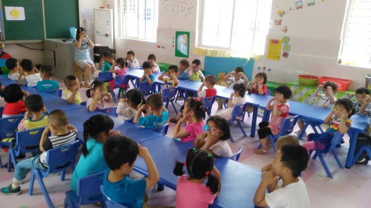 """市幼儿园开展""""爱眼护眼""""健康主题教育"""